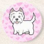 West Highland White Terrier Love Coasters