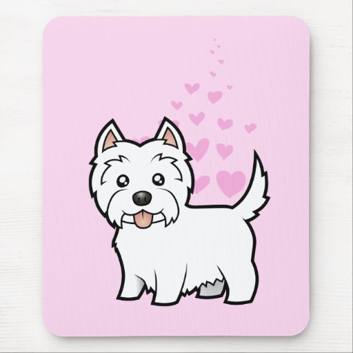 West Highland White Terrier Love Mouse Pad