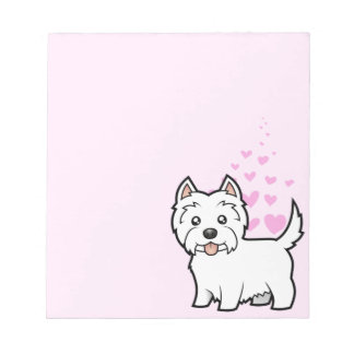 West Highland White Terrier Love Notepad