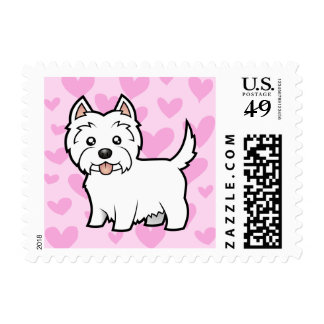 West Highland White Terrier Love Postage
