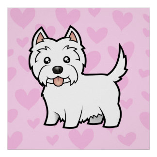 West Highland White Terrier Love Posters