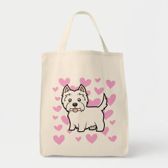 West Highland White Terrier Love Tote Bag