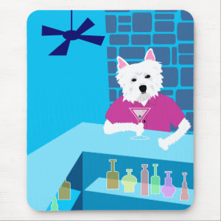 West Highland White Terrier Martini Bar Mouse Pad