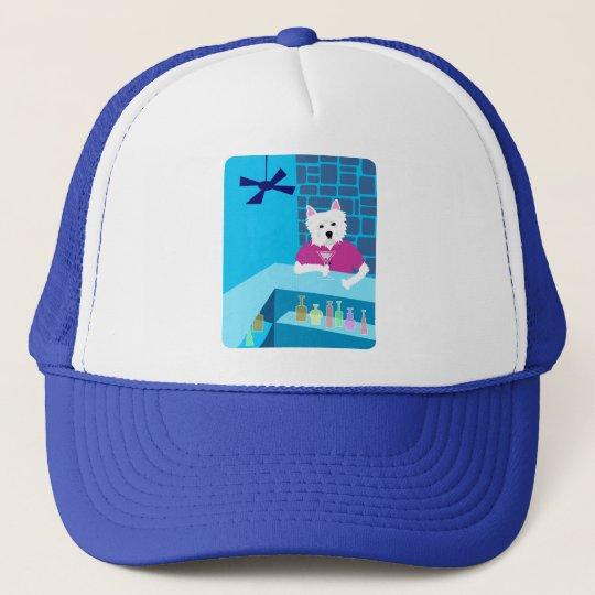 West Highland White Terrier Martini Bar Trucker Hat