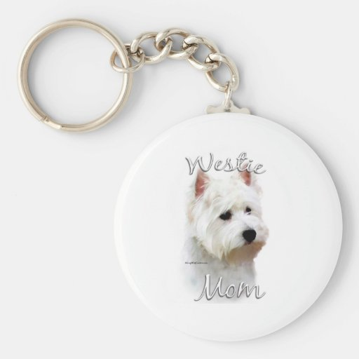 West Highland White Terrier Mom 2 Keychains