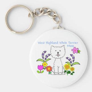 West Highland White Terrier Mom Keychain