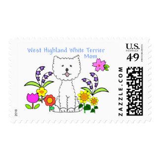 West Highland White Terrier Mom Postage