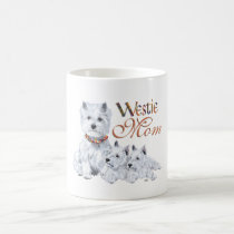 West Highland White Terrier Mom & Pups Coffee Mug