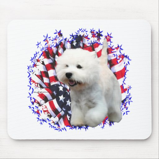 West Highland White Terrier Patriot Mouse Mat