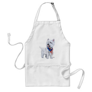 West Highland White Terrier Patriotic Adult Apron