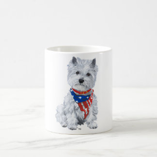 West Highland White Terrier Patriotic Coffee Mug