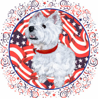 West Highland White Terrier Patriotic Cutout