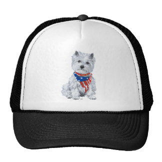 West Highland White Terrier Patriotic Trucker Hat