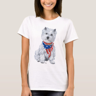 West Highland White Terrier Patriotic T-Shirt