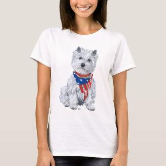 West Highland White Terrier Patriotic T-Shirt