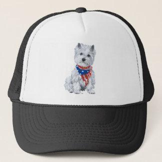 West Highland White Terrier Patriotic Trucker Hat