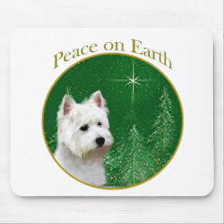 West Highland White Terrier Peace Mouse Pad