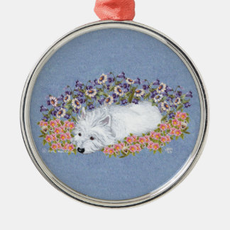 West Highland White Terrier Repose Metal Ornament