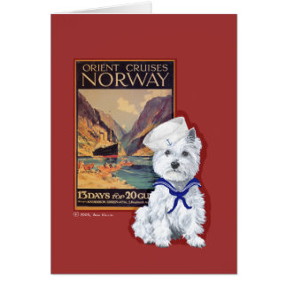 West Highland White Terrier Sailor Card