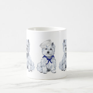 West Highland White Terrier Sailor Coffee Mugs