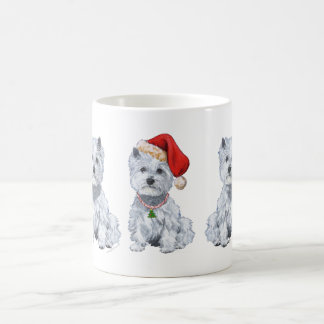 West Highland White Terrier Santa Claus Mugs