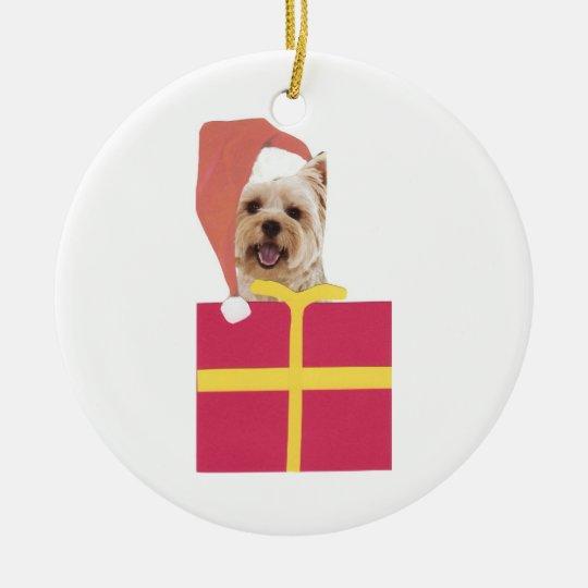 West Highland White Terrier Santa Hat Ornament