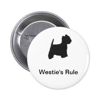 West Highland White Terrier Silhouette Button