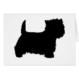 West Highland White Terrier Silhouette Card