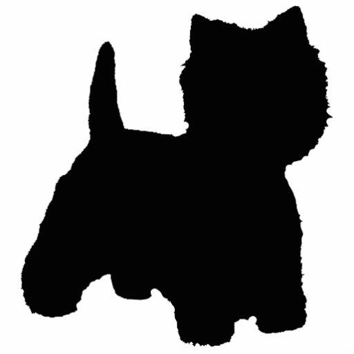 West Highland White Terrier Silhouette Photo Cutouts Zazzle