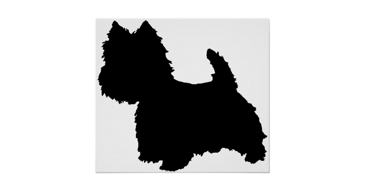 West Highland White Terrier Silhouette Poster | Zazzle