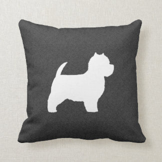 West Highland White Terrier Silhouette Throw Pillow