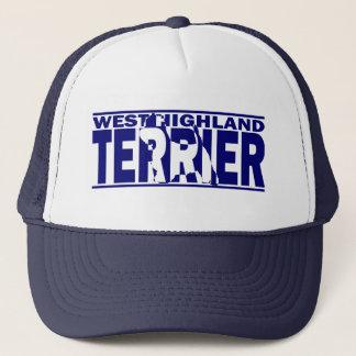 West Highland White Terrier Silhouette Trucker Hat