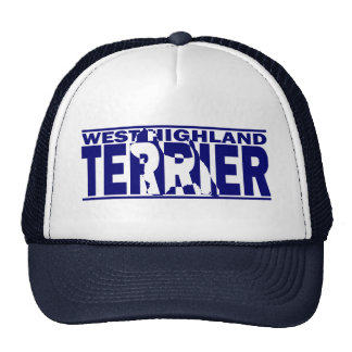 West Highland White Terrier Silhouette Trucker Hat