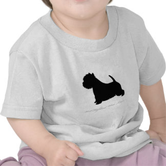 West Highland White Terrier silhouette T Shirt
