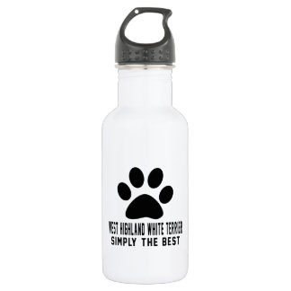 West Highland white terrier Simply the best 18oz Water Bottle