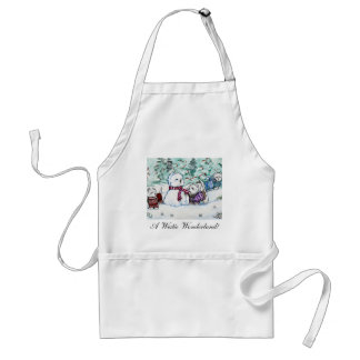 West Highland White Terrier Snowman Adult Apron
