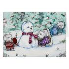 West Highland White Terrier Snowman Card