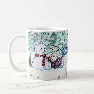 West Highland White Terrier Snowman Coffee Mug