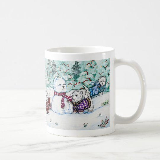 West Highland White Terrier Snowman Coffee Mug
