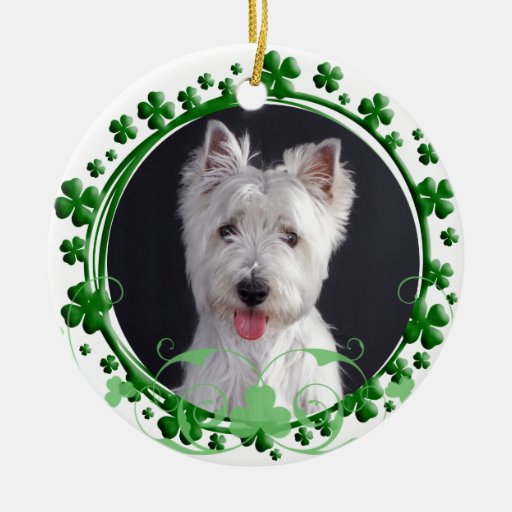 West Highland White Terrier St. Patrick's Day Orna Christmas Tree Ornaments