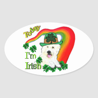 West Highland White Terrier St Pats Oval Sticker