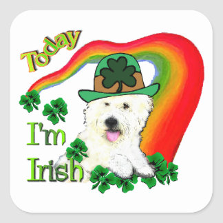 West Highland White Terrier St Pats Square Sticker