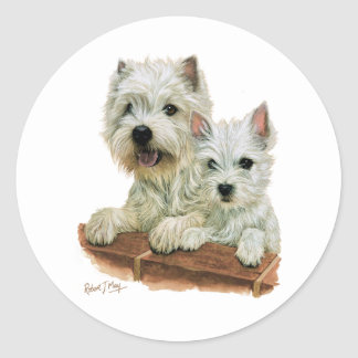 West Highland White Terrier Stickers