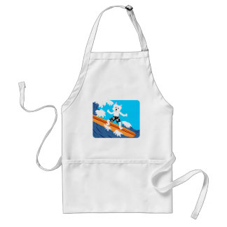 West Highland White Terrier Surfer Adult Apron