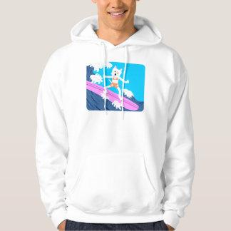 West Highland White Terrier Surfer Girl Hoodie