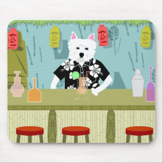 West Highland White Terrier Tiki Bar Mouse Pad