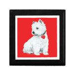 West Highland White Terrier Tile Gift Box