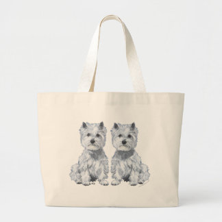 West Highland White Terrier Twins! Canvas Bags