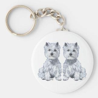 West Highland White Terrier Twins! Keychain