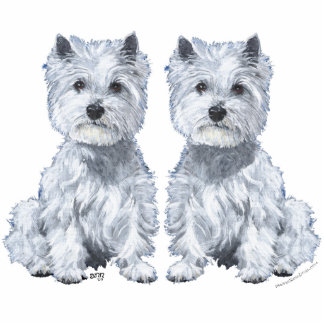 West Highland White Terrier Twins! Acrylic Cut Outs